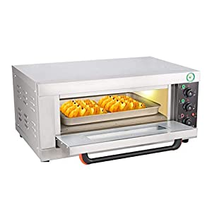 SCKMBJ Slice Toaster Oven with Natural Convection, Stainless Steel, 3200W Pizza Baking Large Capacity Electric Oven, Including Baking Tray, Anti-scalding Gloves, Clip