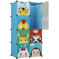 KOUSI Kid Clothes Storage Organizer Baby Dresser Kid Closet Baby Clothes Storage Cabinet for Kids Room Baby Wardrobe Toddler Closet Childrens Dresser (Blue, 28
