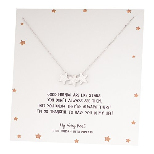 My Very Best Triple Star Necklace, Necklace (silver plated brass)