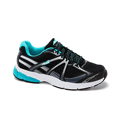 AVIA Womens Avi-Rise Running Shoe 7 Wide Black/Teal