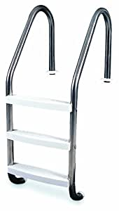 Solstice by International Leisure Products Hydro Tools 87905 3-Step In-Ground Stainless Steel Ladder