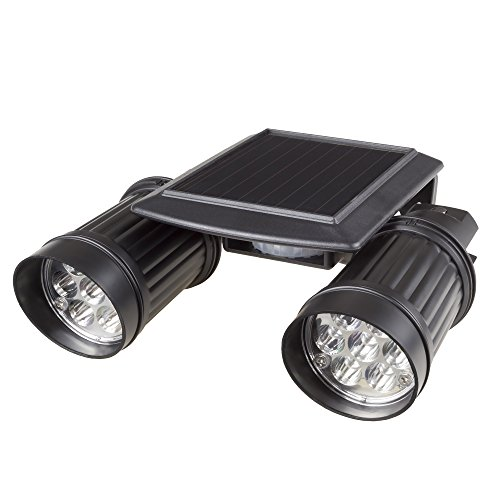 Solar Power Motion LED Light- Outdoor Illumination Bright Dual Spotlights for Walkways, Backyards, Driveways, Exterior Security by Stalwart -