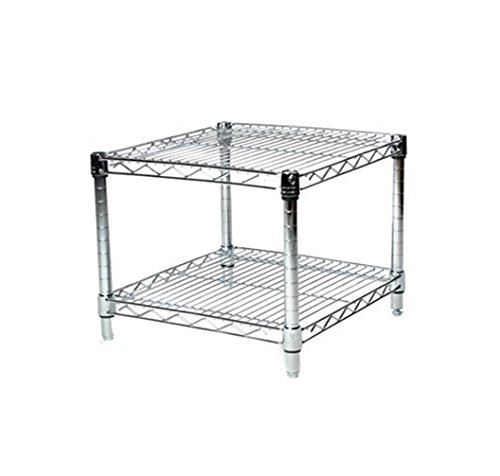 Commercial Chrome Wire Unit 14 x 14 - 2 Shelf Unit - 14'' Height by LJ