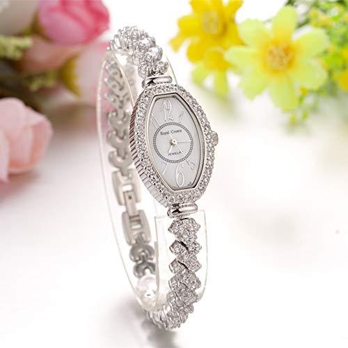 WLKVUOT カジュアルシンプル女性クォーツ時計ファッションクリスタルブレスレットラインストーン時計ウォッチ高級女性腕時計すべての機会