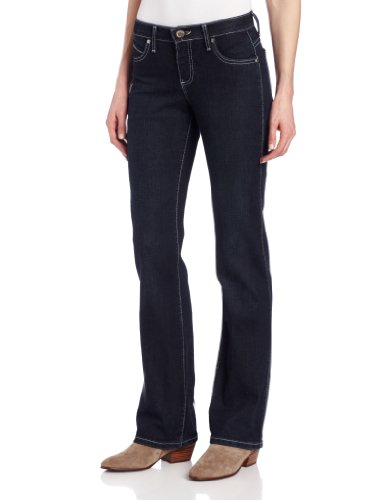 Wrangler Women's Cowgirl Cut Ultimate Riding Jean Q-Baby Midrise Jean,Silver Studded Dark,...