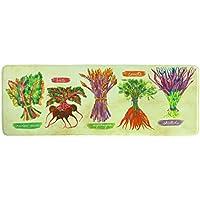 Bacova Guild Standsoft Anti Fatigue Mat, Runner Kitchen Rug, 55 x 20, Garden Fresh II