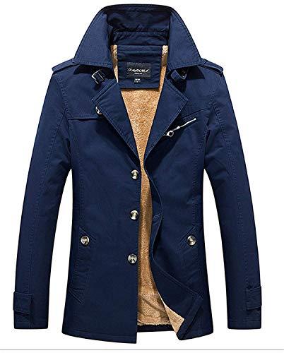 Abiti Soprabito Lunga Coat Lungo Invernale Blau Cappotto Capispalla Giacca Taglie Trench Manica Monopetto Da Uomo Hx Fashion Caldo Comode pTHwqcgB