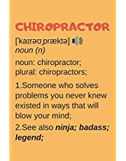 Chiropractor Gifts: Lined Notebook Journal Diary Paper Blank, an Appreciation Gift for Chiropractor to Write in (Volume 5)