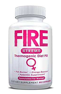 FIRE XTREME (Pharmaceutical Grade Thermogenic OTC Weight Loss Diet Pill) -60ct Bottle-