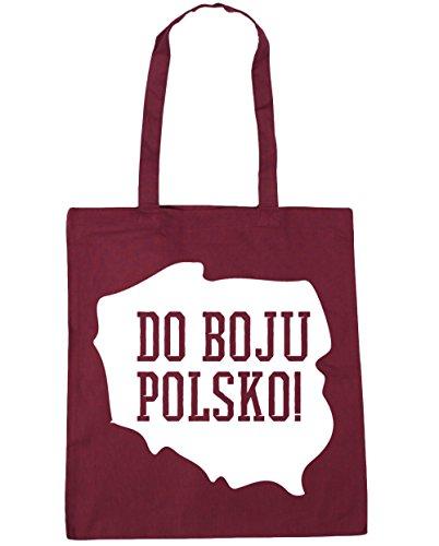 42cm Shopping HippoWarehouse Poland boju 10 Bag Go Beach Tote Polsko x38cm Gym Do Burgundy litres qgvYxZ