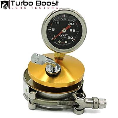 "Turbo Boost Leak Testers 2"" 6061 Billet Aluminum- Tire Valve- 30 PSI Boost Gauge: Automotive"