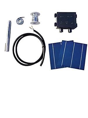 20/25/40/80/108/400pcs High Power 6x6 Solar Cells Kit 4.3W/Pcs w/ Tab Wire Flux for DIY Panel