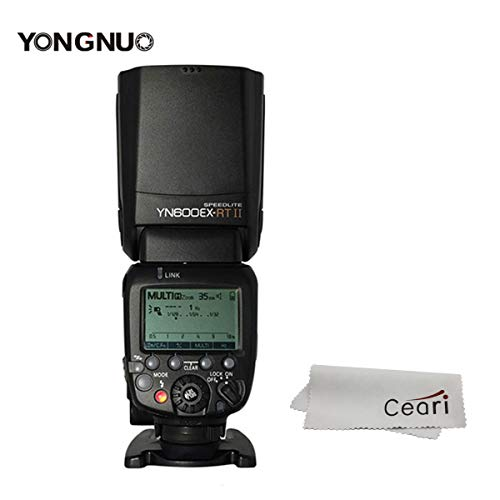 YONGNUO YN600EX-RT II 2.4G Wireless 1/8000s HSS GN60 5600K Master TTL Flash Speedlite for Canon Camera