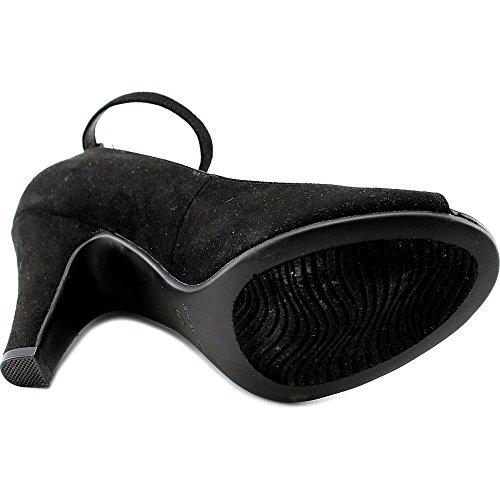 Amerikaanse Rag Willa Peep Toe Enkelband Klassieke Pumps Zwart