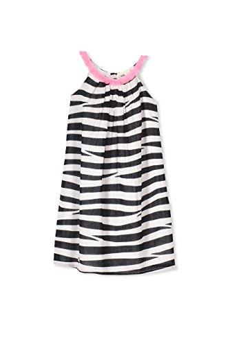 Cotton On Little Girls Fleur Dress Vanilla/Phantom Zebra Size 6