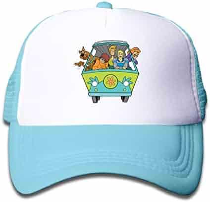 0ecf4863b5769 Huyuadu Kids Trucker Hat Scooby Doo Adjustable and Mesh Back Baseball Cap  Sky Blue