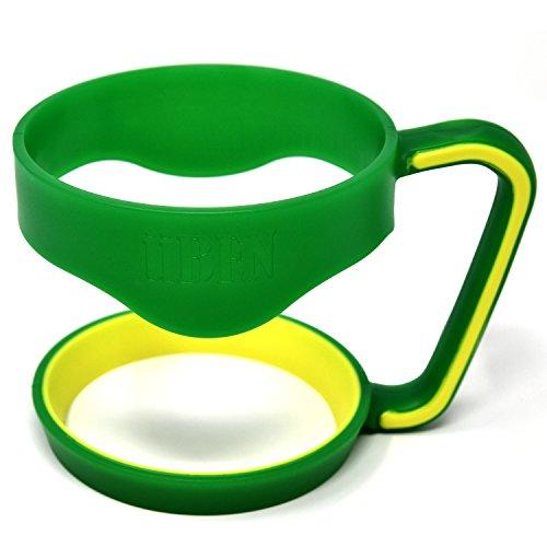 UBEN Smart Insulated Tumbler Handle for Yeti 30 Ounce Rtic, Sic Cup, Ozark Trail and More Tumbler Travel Mug –BPA Free, Green