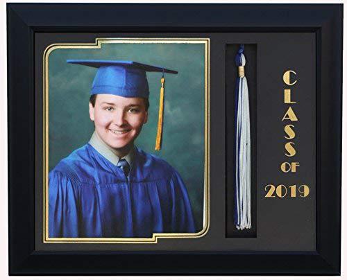 (3art Graduation Tassel 8x10 Picture Frame Black 2019 (Customizable))