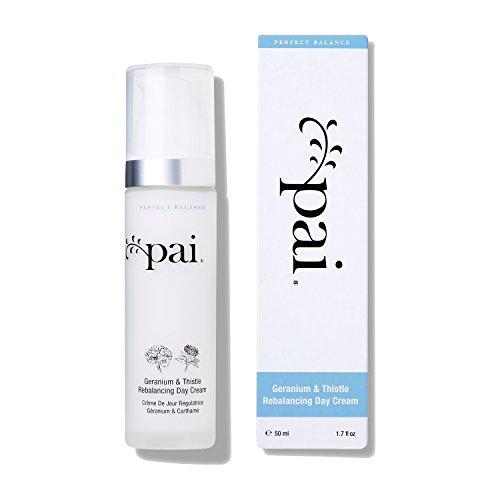 Pai Skincare Organic Geranium Thistle Rebalancing Day Cream Moisturizer for Oily-Sensitive and Combination T – Zone Skin Control -50 ml
