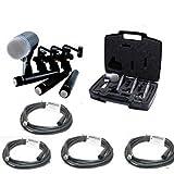 sm57 pack - Shure DMK57-52 Drum Microphone Kit + (4) XLR Cables Bundle (8 items)