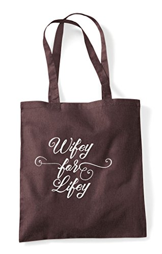 Shopper Hen Do Brown Lifey For Customised Hen Party Personalised Bag Wifey Tote qv0qSwY