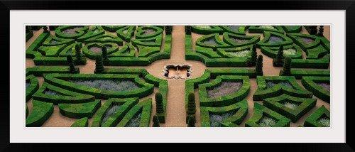 greatBIGcanvas Villandry Chateau Gardens Loire Valley Indre-et-Loire Villandry France Photographic Print with Black Frame, 48