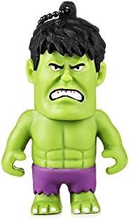 Pen Drive Marvel Vingadores Hulk 8GB USB Leitura 10MB/s e Gravação 3MB/s Multilaser - PD082