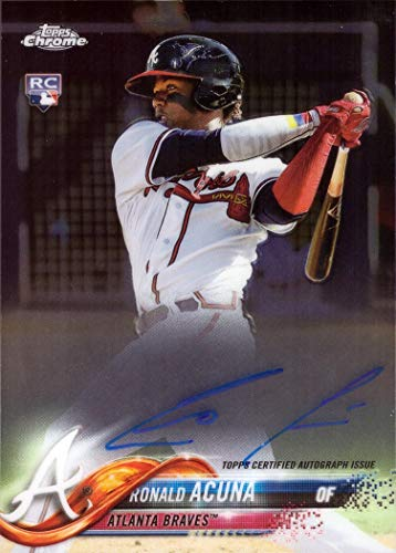 2018 Topps Chrome Baseball #RA-RA Ronald Acuna Jr. Certified Autograph Rookie Card