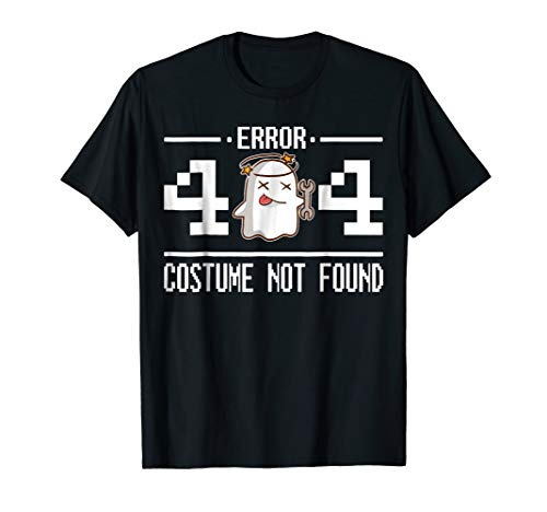 Error 404 Costume Not Found Easy Halloween Costume -