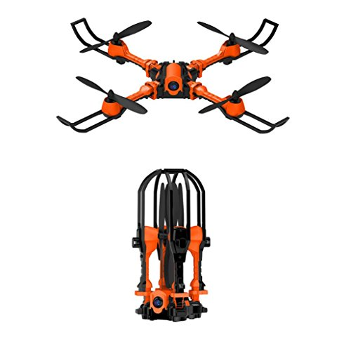 Inverlee i Drone WiFi Selfie Drone with 0.3MP Camera Foldable Arms Altitude Hold Quadcopter (Orange) by Inverlee