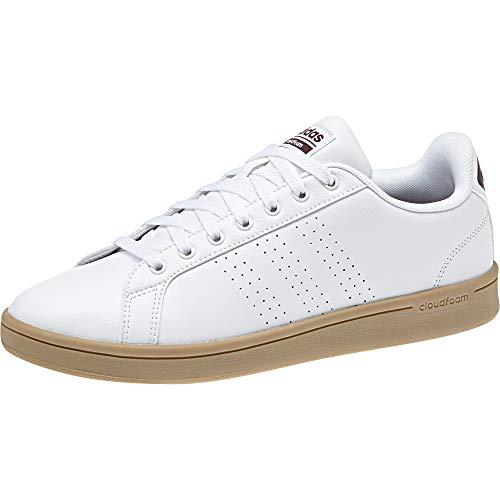 CF adidas Homme Advantage Chaussures Blanc Gum4 Tennis Cl B43703 Maroon Ftwwht de a4F4npW