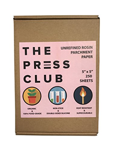 Rosin Parchment Paper • 250 Sheets • 5 inch x 5 inch • 5x - In Store Returns Three Policy