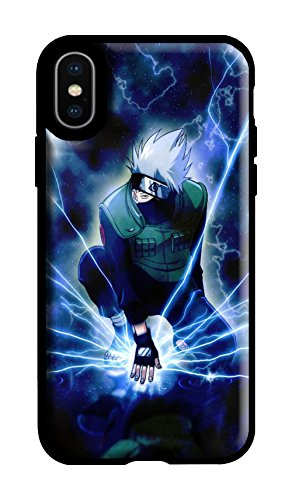 iPhone XR Case, Soft TPU Flexible Light Weight Black Slim Cover Pattern Design Japanese Anime Naruto Shippuden Kakashi Anti-Scratch Shockproof Bright Drop Protection for Apple iPhone XR (Best Naruto Wallpapers For Mobile)