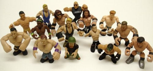 Set of 15 Officially Licensed WWE Wrestler Rumblers Wrestling Figures Featuring 15 Random Wrestler Figures with No -