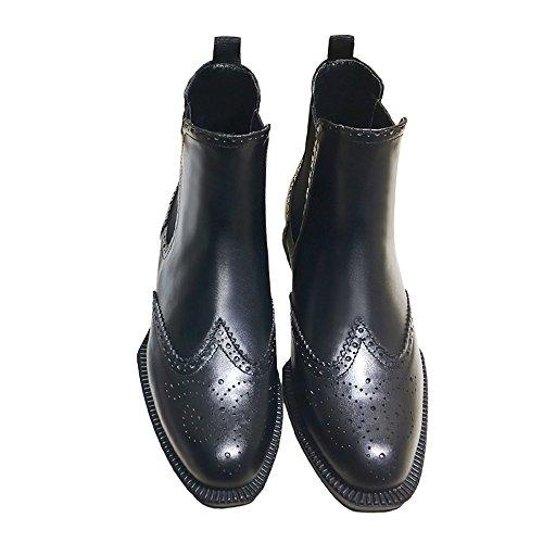 ステレオ膨らみケーキウォーキングシューズ ブーツ レディース 革靴 軽量 カジュアル 革 レザー ビジネスシューズ