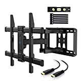PERLESMITH TV Wall Mount Bracket Full Motion Dual Articulating Arm for most 37-70