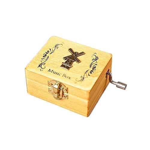 Caja de m/úsica de Madera Retro manivela Exquisito Elefante Regalos de m/úsica Regalo de cumplea/ños Regalo de a/ño Nuevo Regalo de cumplea/ños de ceative decoraci/ón para el hogar