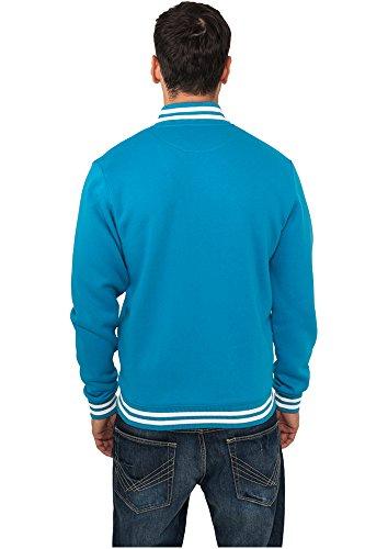 Urban Sweatjacket Uomo Turchese Classics Giacca College rRqvpAwr