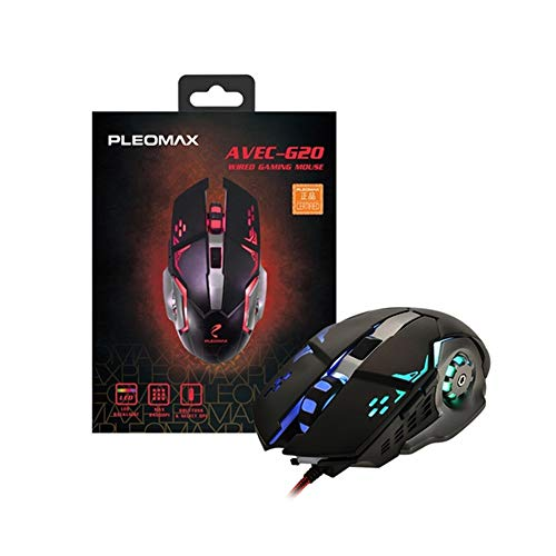 Pleomax Usb - PLEOMAX AVEC G20 USB Gaming Mouse Ergonomic Optical Design Up to 2400 DPI Design Easy Use with LED Lights Braided Cable