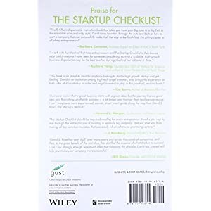 The Startup Checklist - back