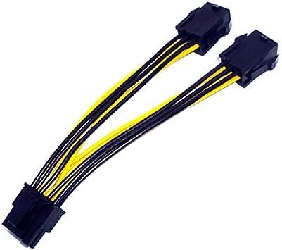 N.C. Cable Duplicador PCI E 8 Pin Macho 2 x PCI E 6 Pin