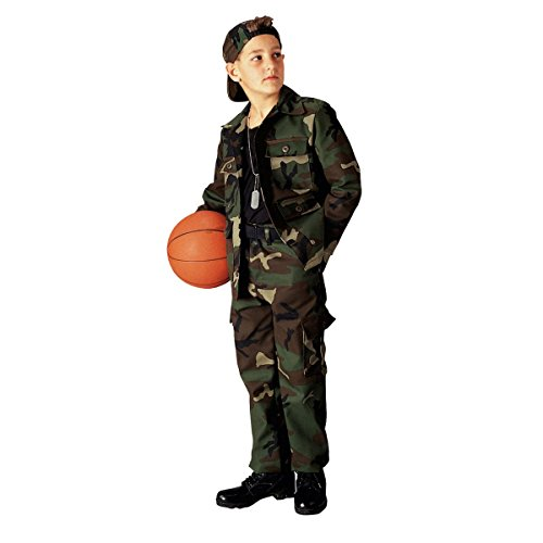 Kids Woodland Camouflage Pants,Size 10 - Kids Cargo Pants