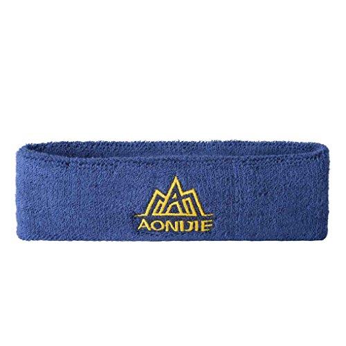 LUFA Femmes Hommes Sport Sweat Yoga Gym Bandeau Bandeau extensible Head Band cheveux