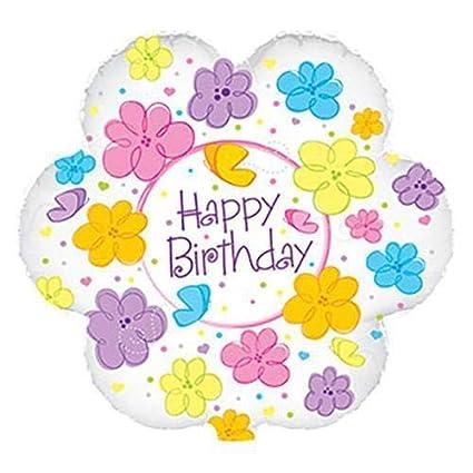 Amazon CTI Balloons Foil Balloon 414451 Happy Birthday Flowers
