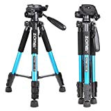 Zomei Q111 55-Inch Lightweight Travel Tripod with Carrying Case (Blue)
