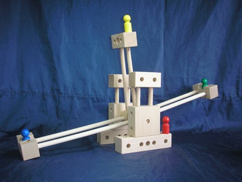 [Japanese-made wooden toys] break even block by Chiyoda