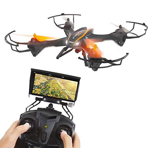 2.4GHz Wireless Predator Quadcopter Drone with Camera – WiFi 4 Channel FPV, 6-Gyro RC Quadcopter w/HD Camera, Live Video…