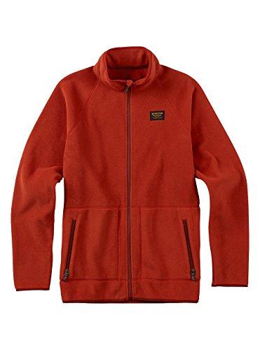Burton Men's Ember Full-Zip Fleece Hoodie, Bitters, Medium Burton Mens Lightweight Fleece
