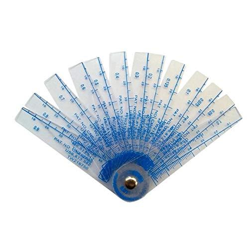 (HAOMAO 1PCS ktool 0.05-1mm Thickness Plastic Plug Feeler Gauge Gap Filler Measuring Tool)
