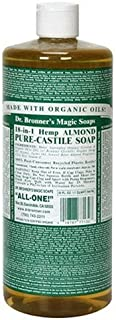 product image for Dr. Bronner's Magic Soaps Pure-Castile Soap, 18-in-1 Hemp Almond, 32-Ounce Bottles (Pack of 2)
